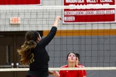 CIAC Girls Volleyball; Wolcott 0 vs. Woodland 3 - Photo # (267)