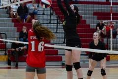 CIAC Girls Volleyball; Wolcott 0 vs. Woodland 3 - Photo # (300)