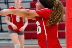 CIAC Girls Volleyball; Wolcott 0 vs. Woodland 3 - Photo # (314)