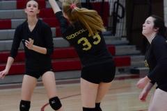 CIAC Girls Volleyball; Wolcott 0 vs. Woodland 3 - Photo # (329)
