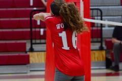 CIAC Girls Volleyball; Wolcott 0 vs. Woodland 3 - Photo # (332)