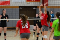 CIAC Girls Volleyball; Wolcott 0 vs. Woodland 3 - Photo # (366)