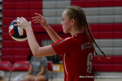 CIAC Girls Volleyball; Wolcott 0 vs. Woodland 3 - Photo # (372)