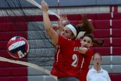 CIAC Girls Volleyball; Wolcott 0 vs. Woodland 3 - Photo # (384)