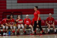 CIAC Girls Volleyball; Wolcott 0 vs. Woodland 3 - Photo # (404)
