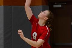 CIAC Girls Volleyball; Wolcott 0 vs. Woodland 3 - Photo # (413)