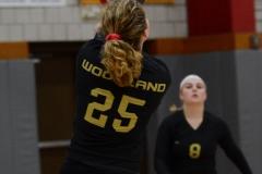 CIAC Girls Volleyball; Wolcott 0 vs. Woodland 3 - Photo # (414)