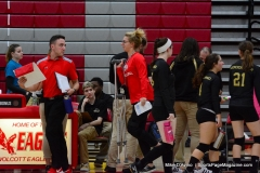 CIAC Girls Volleyball; Wolcott 0 vs. Woodland 3 - Photo # (425)