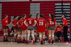 CIAC Girls Volleyball; Wolcott 0 vs. Woodland 3 - Photo # (430)
