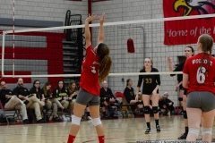 CIAC Girls Volleyball; Wolcott 0 vs. Woodland 3 - Photo # (452)