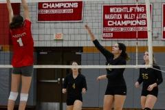 CIAC Girls Volleyball; Wolcott 0 vs. Woodland 3 - Photo # (459)