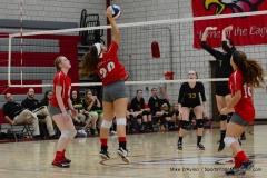 CIAC Girls Volleyball; Wolcott 0 vs. Woodland 3 - Photo # (467)