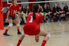CIAC Girls Volleyball; Wolcott 0 vs. Woodland 3 - Photo # (487)