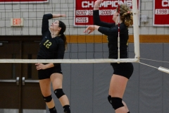 CIAC Girls Volleyball; Wolcott 0 vs. Woodland 3 - Photo # (494)