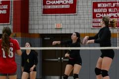 CIAC Girls Volleyball; Wolcott 0 vs. Woodland 3 - Photo # (495)