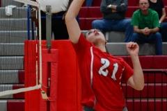 CIAC Girls Volleyball; Wolcott 0 vs. Woodland 3 - Photo # (518)