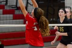 CIAC Girls Volleyball; Wolcott 0 vs. Woodland 3 - Photo # (53)