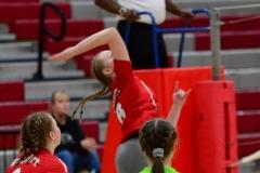 CIAC Girls Volleyball; Wolcott 0 vs. Woodland 3 - Photo # (55)