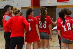 CIAC Girls Volleyball; Wolcott 0 vs. Woodland 3 - Photo # (554)