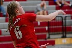 CIAC Girls Volleyball; Wolcott 0 vs. Woodland 3 - Photo # (83)