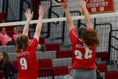 CIAC Girls Volleyball; Wolcott 0 vs. Woodland 3 - Photo # (85)