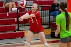 CIAC Girls Volleyball; Wolcott 0 vs. Woodland 3 - Photo # (93)