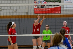 CIAC Girls Volleyball; Wolcott vs. Lewis Mills - Photo # (104)