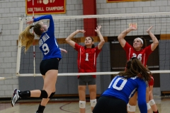 CIAC Girls Volleyball; Wolcott vs. Lewis Mills - Photo # (105)