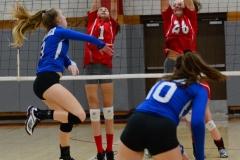 CIAC Girls Volleyball; Wolcott vs. Lewis Mills - Photo # (106)