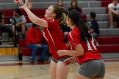 CIAC Girls Volleyball; Wolcott vs. Lewis Mills - Photo # (11)