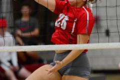 CIAC Girls Volleyball; Wolcott vs. Lewis Mills - Photo # (110)