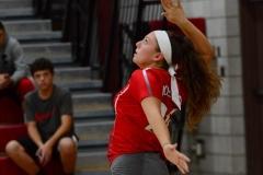 CIAC Girls Volleyball; Wolcott vs. Lewis Mills - Photo # (113)