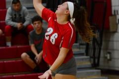 CIAC Girls Volleyball; Wolcott vs. Lewis Mills - Photo # (114)