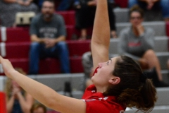 CIAC Girls Volleyball; Wolcott vs. Lewis Mills - Photo # (117)