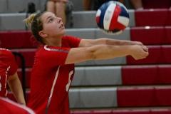 CIAC Girls Volleyball; Wolcott vs. Lewis Mills - Photo # (12)