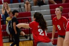CIAC Girls Volleyball; Wolcott vs. Lewis Mills - Photo # (122)