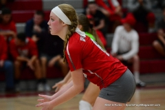 CIAC Girls Volleyball; Wolcott vs. Lewis Mills - Photo # (124)
