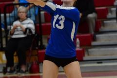 CIAC Girls Volleyball; Wolcott vs. Lewis Mills - Photo # (126)