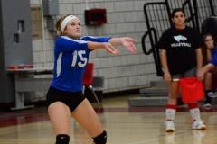 CIAC Girls Volleyball; Wolcott vs. Lewis Mills - Photo # (127)