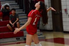 CIAC Girls Volleyball; Wolcott vs. Lewis Mills - Photo # (133)