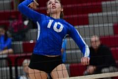 CIAC Girls Volleyball; Wolcott vs. Lewis Mills - Photo # (135)