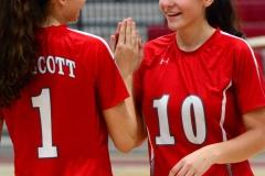 CIAC Girls Volleyball; Wolcott vs. Lewis Mills - Photo # (14)