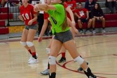 CIAC Girls Volleyball; Wolcott vs. Lewis Mills - Photo # (140)