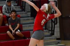 CIAC Girls Volleyball; Wolcott vs. Lewis Mills - Photo # (22)