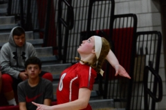 CIAC Girls Volleyball; Wolcott vs. Lewis Mills - Photo # (23)