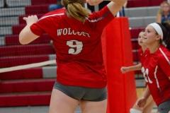 CIAC Girls Volleyball; Wolcott vs. Lewis Mills - Photo # (24)