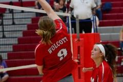 CIAC Girls Volleyball; Wolcott vs. Lewis Mills - Photo # (25)