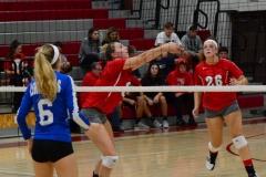 CIAC Girls Volleyball; Wolcott vs. Lewis Mills - Photo # (27)