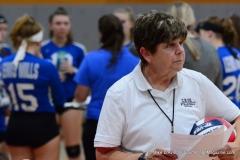 CIAC Girls Volleyball; Wolcott vs. Lewis Mills - Photo # (3)