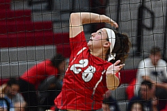 CIAC Girls Volleyball; Wolcott vs. Lewis Mills - Photo # (30)